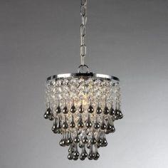 Warehouse of Tiffany Drape 1-Light Chrome Chandelier-RL13811 at The Home Depot