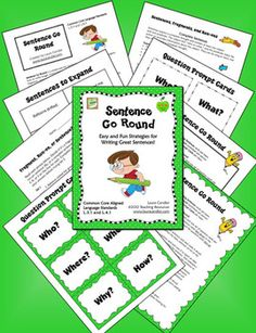 Sentence Go Round now FREE for a few days only as a Teacher Appreciation Gift! Do your students have trouble writing complete sentences? Sentence Go Round is a simple and fun cooperative learning strategy to teach students how to write longer, more complex sentences.