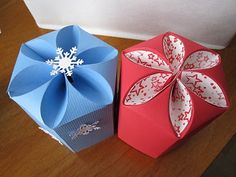 -: Petal Top Box-glitter ornaments fit!!!!   2 small boxes per 12x12 sheet  SCAL file