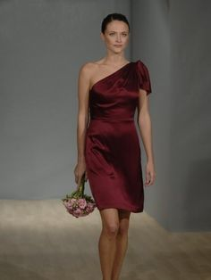 Sheath _ Column One Shoulder Ruffles Short Short _ Mini Elastic Woven Satin Cocktail Dresses _ Homecoming $99.99 Special Offers