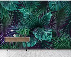 3d Wallpaper Design, Wallpaper Size, Designer Wallpaper, Green Floral Wallpaper, Flower Wallpaper, Tree Wallpaper, Green Banana, Palmiers, Smooth Walls