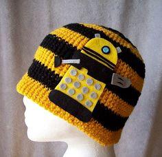 Dalek Hat Eternal Yellow Crochet by spencerdiamond on Etsy, $10.11