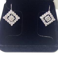 diamond shape eurowire earrings
