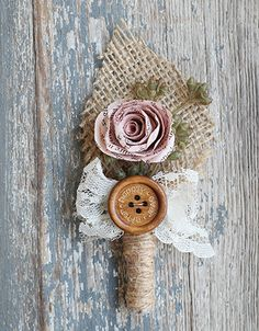 Click Here to see how I dyed the book page flowers for our DIY Boutonnieres - Upcycled Treasures #upcycle #boutonniere #DIY