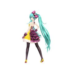 """""""Hatsune Miku Project DIVA F 2nd"""" First Promotional Video ❤ liked on Polyvore featuring anime, vocaloid, characters and miku"""