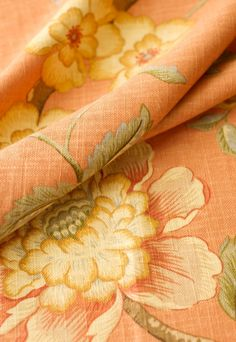 NEW THEME: enchanting rooms in peach, apricot, gold and a touch of green Peach And Green, Peach Orange, Sweet Peach, Orange Color, Albert Schweitzer, Trend Fabrics, Shades Of Peach, Color Naranja, Peach Blossoms