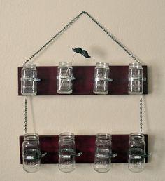 Mason Jar Hanging Shelf - Handmade Hilarity