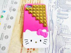 studded hello kitty slider case pink