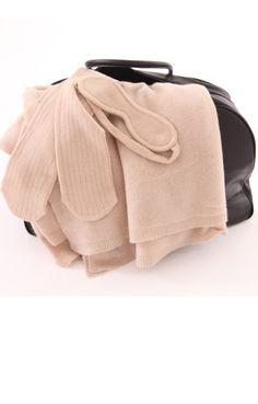 luxury cashmere travel set
