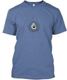 Abs Eye Wave Denim Blue T-Shirt Front