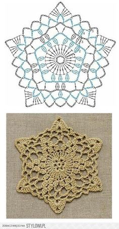 Patterns and motifs: Crocheted motif no. 1397