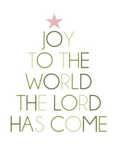 Simply Albany: Joy To The World - Printable