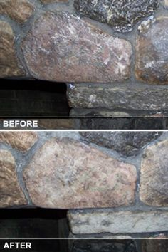 How to Remove Paint From a Stone Fireplace | Remove paint, Stone ...