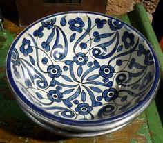 Moroccan vintage ceramic bowl