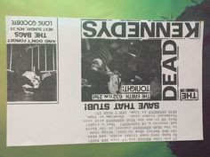 THE DEAD KENNEDYS flyer discount announcement THE BAGS pdx 1979 handbill