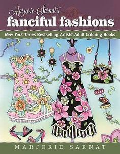 Adult Coloring Designs Book Art Fanciful Fashion Stress