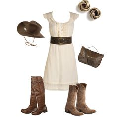 High waisted belts do not look good on me... but this look is adorable. I wonder if the dress would be long enough?