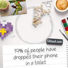#5About Phones | 19% Of Teens Have Dropped Their Phone In A Toilet | Pin And Share!