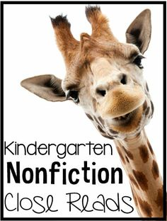 Kindergarten Nonfiction Close Reads {5 weeks included}