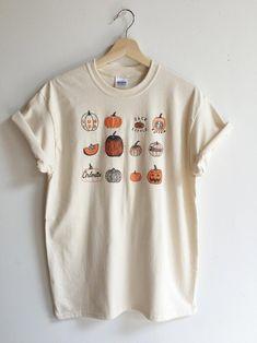 Pumpkin T-Shirt, Halloween Shirt, Screen print shirt, Foodie Gift, Clothing Gift Screen Printing Shirts, Printed Shirts, Cr V Honda, Lange T-shirts, Chemise Fashion, Fall Outfits, Cute Outfits, Halloween Shirt, Halloween Ideas