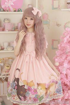 Cute kawaii Lolita Dress OVO