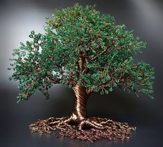 Commissioned bead and wire tree of life sculpture by Twystedroots Crystal Tree, . Bonsai Tree Price, Bonsai Trees For Sale, Japanese Bonsai Tree, Wire Tree Sculpture, Wire Sculptures, Wire Jewelry Patterns, Tree Of Life Art, Crystal Tree, Unique Trees