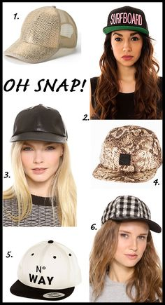 Amp up your style with a snapback hat via Tiffany Pinero Style