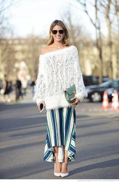 Helena bordon saia mídi street style