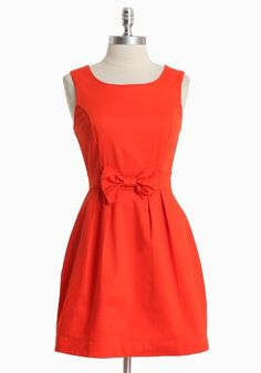Stella Luna Bow Dress in Red cindicramer