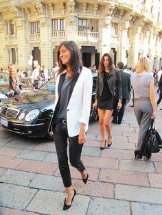 Womens fashion, street style. Emmanuelle Alt - such great style!