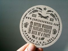 coaster wedding invitations   Affordable Letterpress Wedding Invitations » coasters