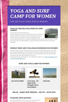 YOGA AND SURF CAMP FOR WOMEN