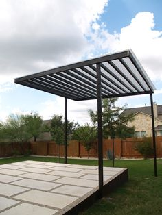 simple steel shade structure
