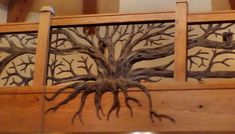 Forged Bronze Tree Railing