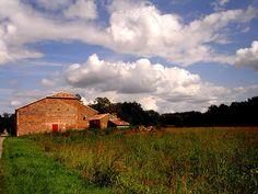 Espalais, France.  Restored barn.  Red door.  2006