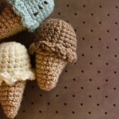 Free #crochet pattern - mini #icecream cone