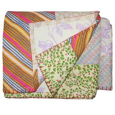 "Vintage Rali Blanket  92"" x 92""  Our vintage blankets and throws are handpicked during my frequent jaunts around the world."