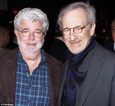 Happy New Year From The Bearded Trio - Inspirational quotes from George Lucas and Steven Spielberg. Best Director, Film Director, George Lucas Quotes, Bottle Buddy, Steven Spielberg Movies, Walt Disney Co, Cinema Film, Indiana Jones, Movie Theater
