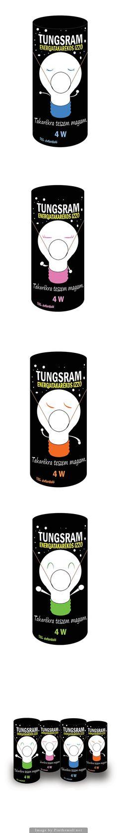 Tungsram Bulb Packaging Design Design Tech, Web Design, Graphic Design, Lightbulbs, Packaging Design Inspiration, A3, Cool Things To Make, Lantern, Hello Kitty