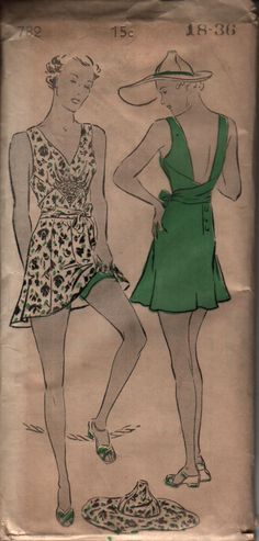 Old Bathing suit patterns - Google Search