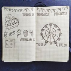 "722 Likes, 16 Comments - Shanise (@blackandwhitebujo) on Instagram: ""The carnival is in town this week! .. .. .. .. .. #bulletjournal #bujo #planner #carnival #fair…"""