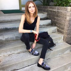 #ChiaraFerragni Chiara Ferragni: Today around meetings wearing @boyyboutique shoes, @redun jeans and Chanel backpack #TheBlondeSaladGoesToHollywood