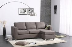 Chic Small Sofa Design Ideas For Minimalist Living Room Best Ideas) Small Space Sectional, Corner Sectional Sofa, Sofa Couch, Small Sofa, Couch Furniture, Chesterfield Sofa, Sofa Set, Sectional Sofas, Chaise Sofa