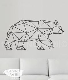 Geometric Bear Wall Decal, Geometric Animals Decals, Home Decor Wall Decals, Geometric Vinyl Wall Stickers by LivingWall on Etsy https://www.etsy.com/listing/241396100/geometric-bear-wall-decal-geometric