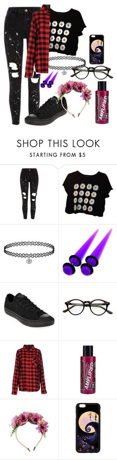 """Hipster/Emo"" by hold-on-til-may ❤ liked on Polyvore featuring Urban Outfitters, Converse, Sweet Skateboards and Manic Panic NYC"