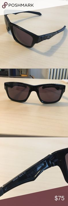 Oakley Jupiter Square Sunglasses Like new, these Oakley Jupiter Squared sunglasses were purchased in 2015. Non-polarized but great visibility in the sun. Frames are black, and lenses are gray. Rubberized ends make these great activewear. Includes Serfas Optical bag. Oakley Accessories Sunglasses