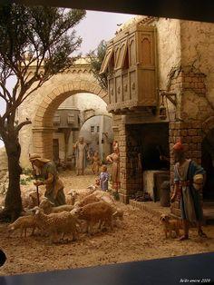 emilio m belenista - Fontanini Nativity, Biblical Art, Classical Art, Miniature Houses, Inspired Homes, Aesthetic Art, Ancient History, Game Art, Painting