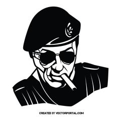 Sylvester Stallone vector image