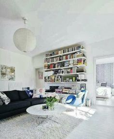 Einrichtungsdeen für Hausbibliothek und Bücherwand-Ruhe-Ort zu Hause ...