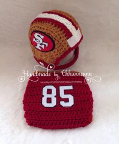 Baby Football Team Sports Helmet Hat by handmadebychhunneang.   Perfect for baby RJ new born photos